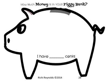Piggy Bank Money Mat