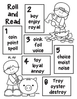 Piggy Bank Roll and Read - oi, oy