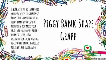 Piggy Bank Shape Graph