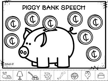 Piggy Bank Speech - No Prep Speech Therapy