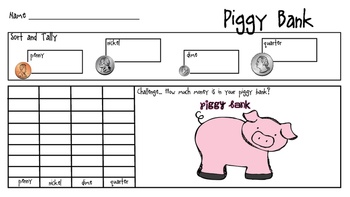 Piggy Bank Tally and Graph