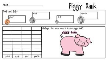 Piggy Bank Tally and Graph