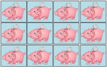 Coins in the Piggy Bank: Pennies, Nickels, Dimes Math Money Game