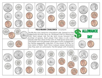 Piggy Bank challenge - Coin Combination Values
