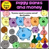 Piggy Banks and Money Clip Art