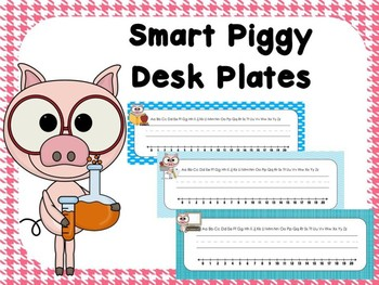 Piggy Desk Plates