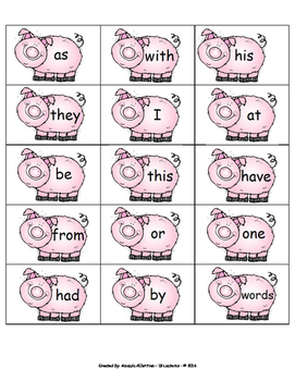 Piggy Flash - Fry's First 100 Words Flashcards