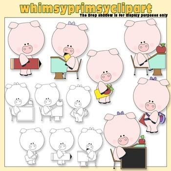 Piggy Goes To School