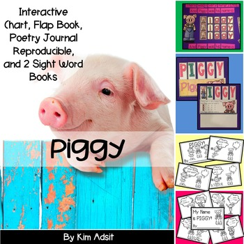 Sight Word Reader and Interactive Chart: Piggy