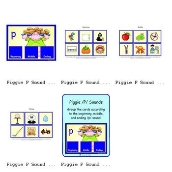Piggy P Sounds (Beginning, Middle and Ending /p/ Sound)