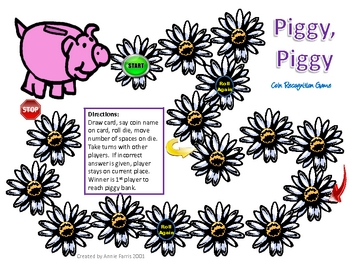 Piggy Piggy Coin Recognition Game