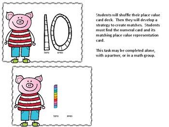 Place Value Piggy Centers
