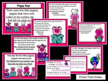 """""""Piggy Rap"""" Shared Reading to the Beat (Ordinal Numbers)"""