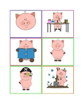 EDITABLE Piggy Themed Center Station Cards *Word Doc