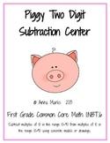 Piggy Two Digit Subtraction Center: Common Core Math 1.NBT.6