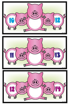 Numbers Before and After - Piggy in the Middle