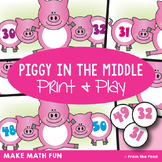 Piggy in the Middle - Math Print and Play Center Game