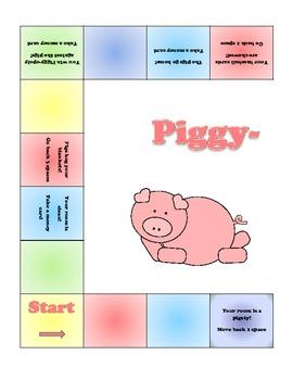 Piggy-opoly File Folder Game