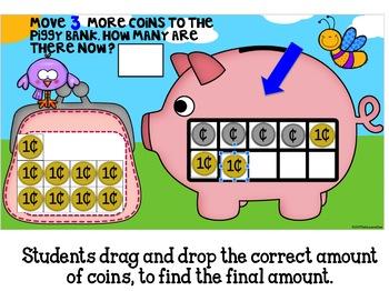 Piggybank Digital Math Center for Use With Google Classroom