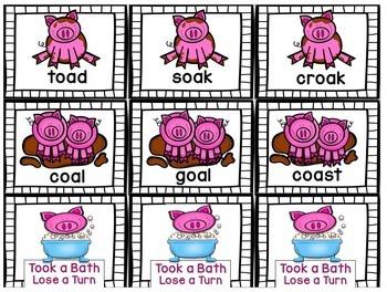 Muddy Pigs LONG VOWEL Game