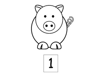 Pigs 1 to 20 Flashcards - Colorable