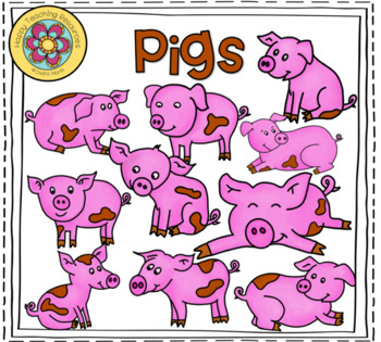 Pigs - 20 ClipArts