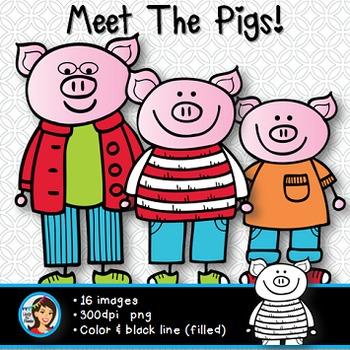 Clip Art Pigs
