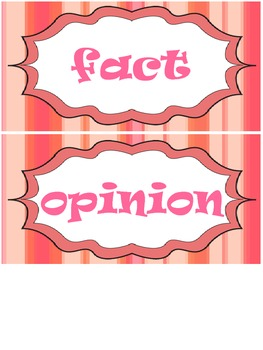 Pigs- Fact or Opinion