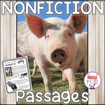 Distance Learning Pigs Nonfiction Guided Reading Comprehension Fluency Passages