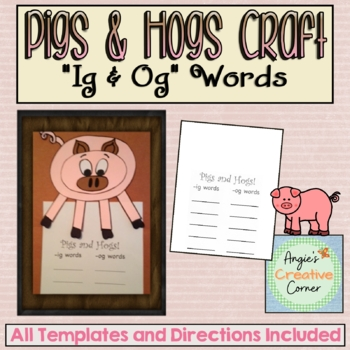 Pigs & Hogs Art and Writing Project
