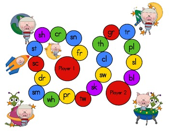 Pigs In Space!  A Blend and Diagraph Activity