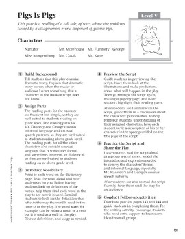 Pigs Is Pigs (Leveled Readers' Theater, Grade 6+)
