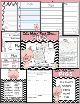 Pigs: Let's Read and Write About Pigs Activities