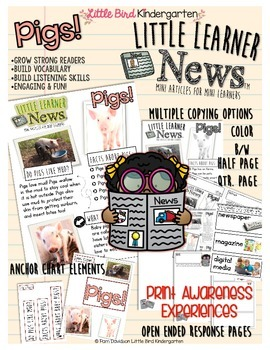 Pigs! Informational Print Awareness (Little Learners News)