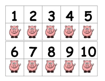 Pigs Number Line 1-10