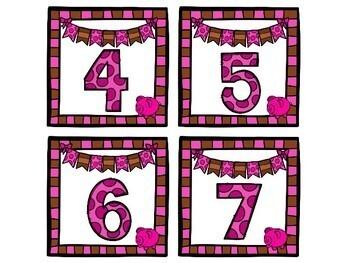 Pigs Number Match Up Math Center