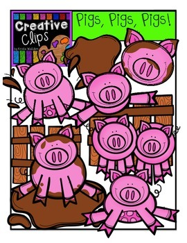 Pigs Pigs Pigs {Creative Clips Digital Clipart}