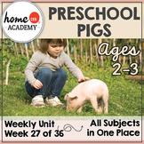 Pigs Preschool Unit - Printables for Preschool, PreK, Homeschool Preschool