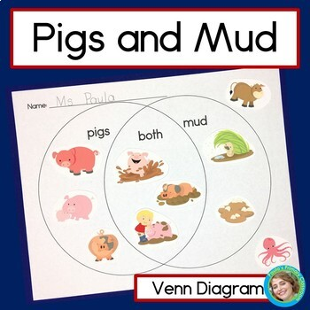 Pigs and Mud Venn Diagram Sorting Activity