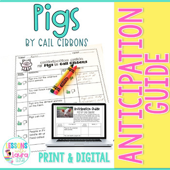 Pigs by Gail Gibbons Anticipation Guide