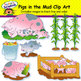 Pigs in the Mud Clip Art