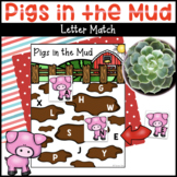 Pigs in the Mud Letter Matching Activity