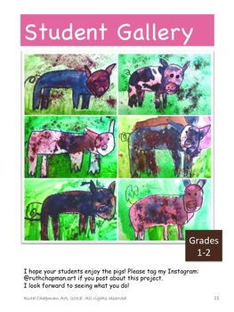 Pigs in the Mud Art Lesson for Grades K-3