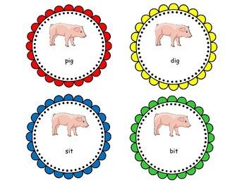 Long/Short Vowel Intervention:  i Vowel Sort Center (K-2, 13pgs.)