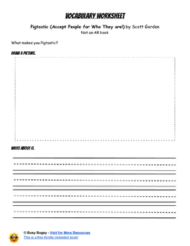 Pigtastic (Accept People for Who They are!)  by Scott Gorden Reading Worksheets