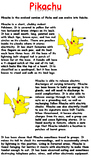 Pikachu Reading Comprehension