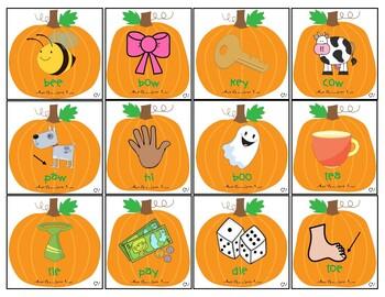Pile 'em High Pumpkins: CV, VC, CVC and 2 Syllable Words