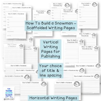 Pile on the Winter Fun! Set 3 ~ Adjective Snowballs with Two Writing Activities