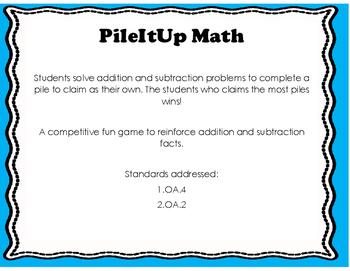 PileIt Up Math