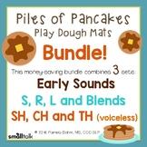 Piles of Pancakes Play Dough Mats for Articulation Bundle